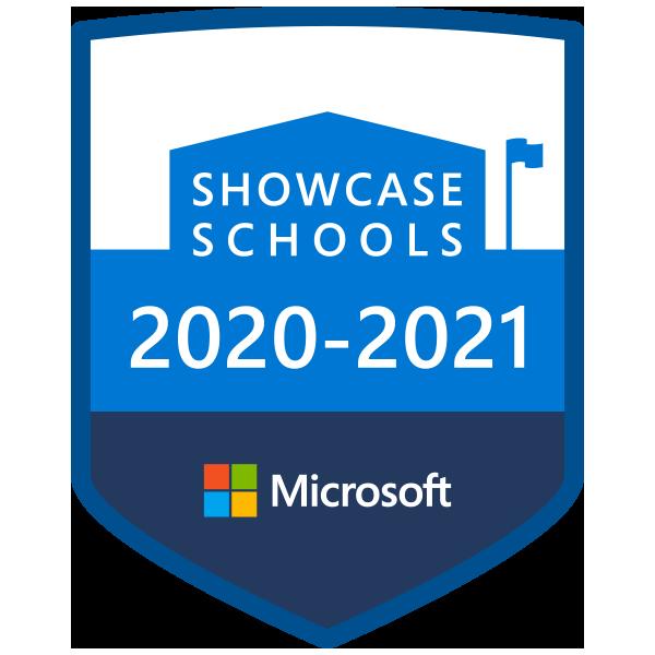 Odznaka programu Microsoft Showcase School